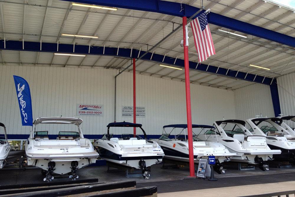 MarineMax Naples Marina boat storage
