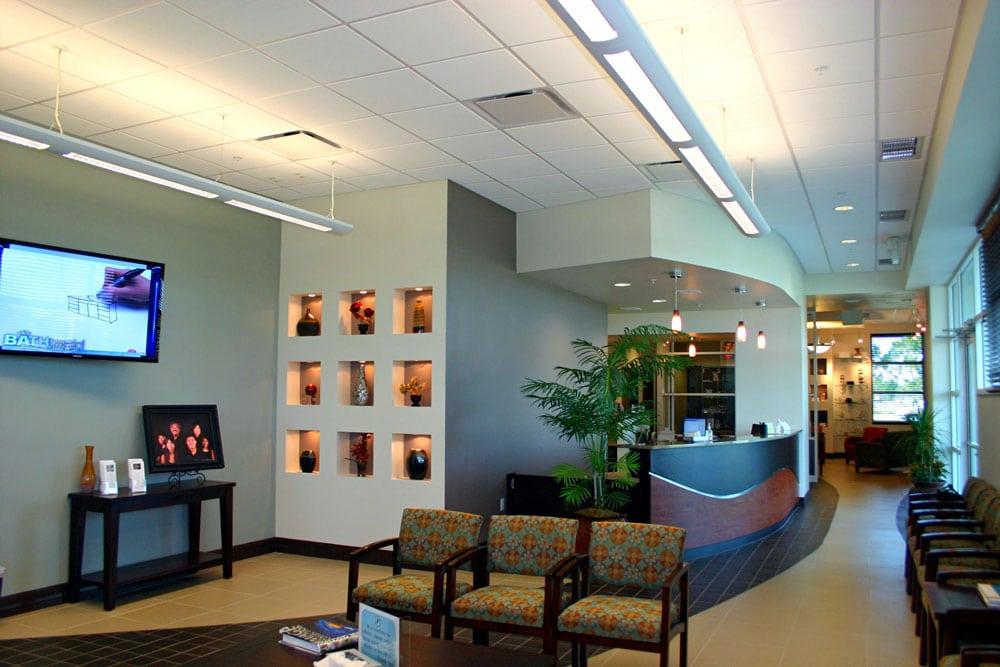 SWFL Eye Care Interiors reception desk