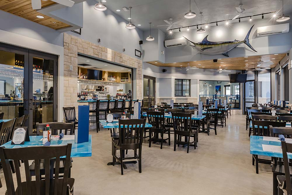 Deep Lagoon Seafood & Oyster House – Kitchen Seating Area