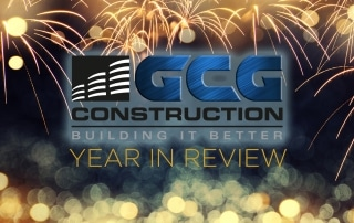 GCG Construction Logo with Year in Review