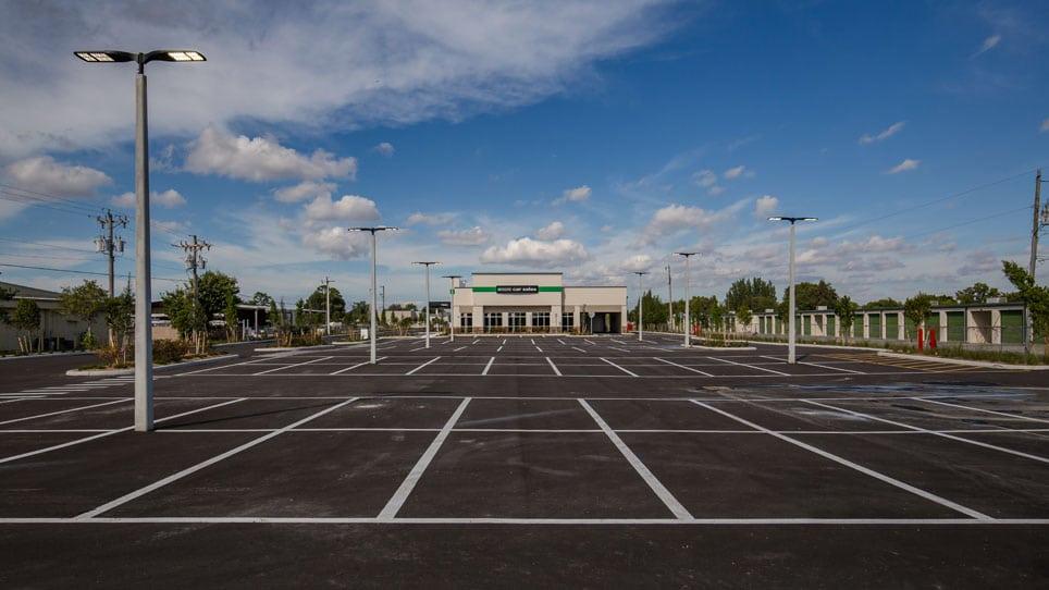 Enterprise Car Sales Building - with parking lot