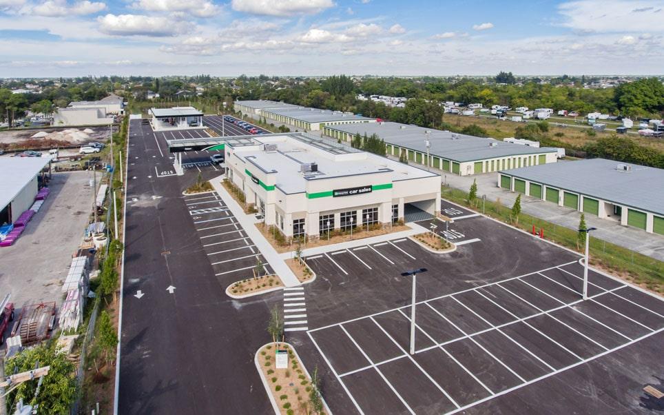 Enterprise Car Sales Building - Aerial View