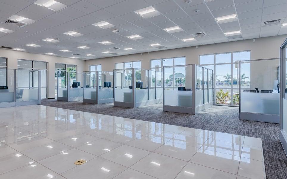 Enterprise Car Rental office cubicals