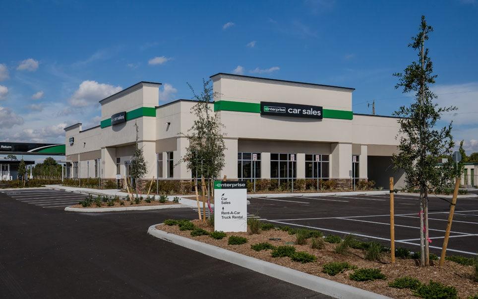 Enterprise Car Sales Building - 3/4 view